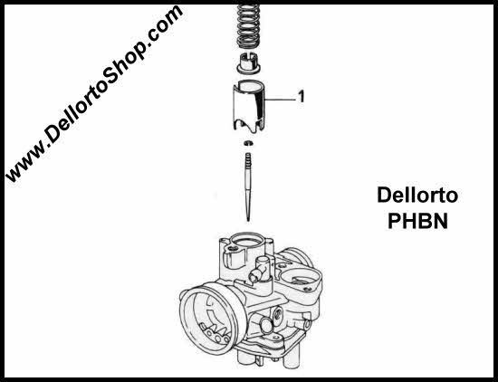 1 Throttle Slide For Dellorto Phbn 14 Ms Carburetors