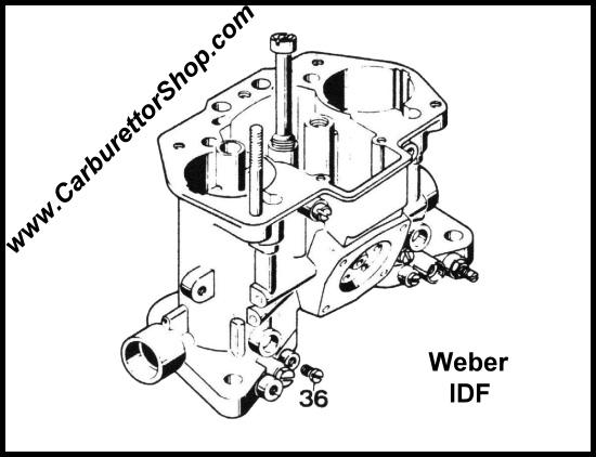 36 Vacuum Take Off Plug For Weber Idf Carburetors