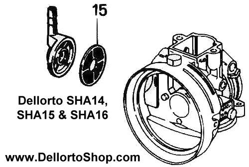 15  banjo fuel filter for dellorto sha14 sha15 and sha16
