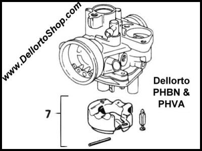 7 Float And Needle Valve Set For Dellorto Phbn And Phva Carburetors