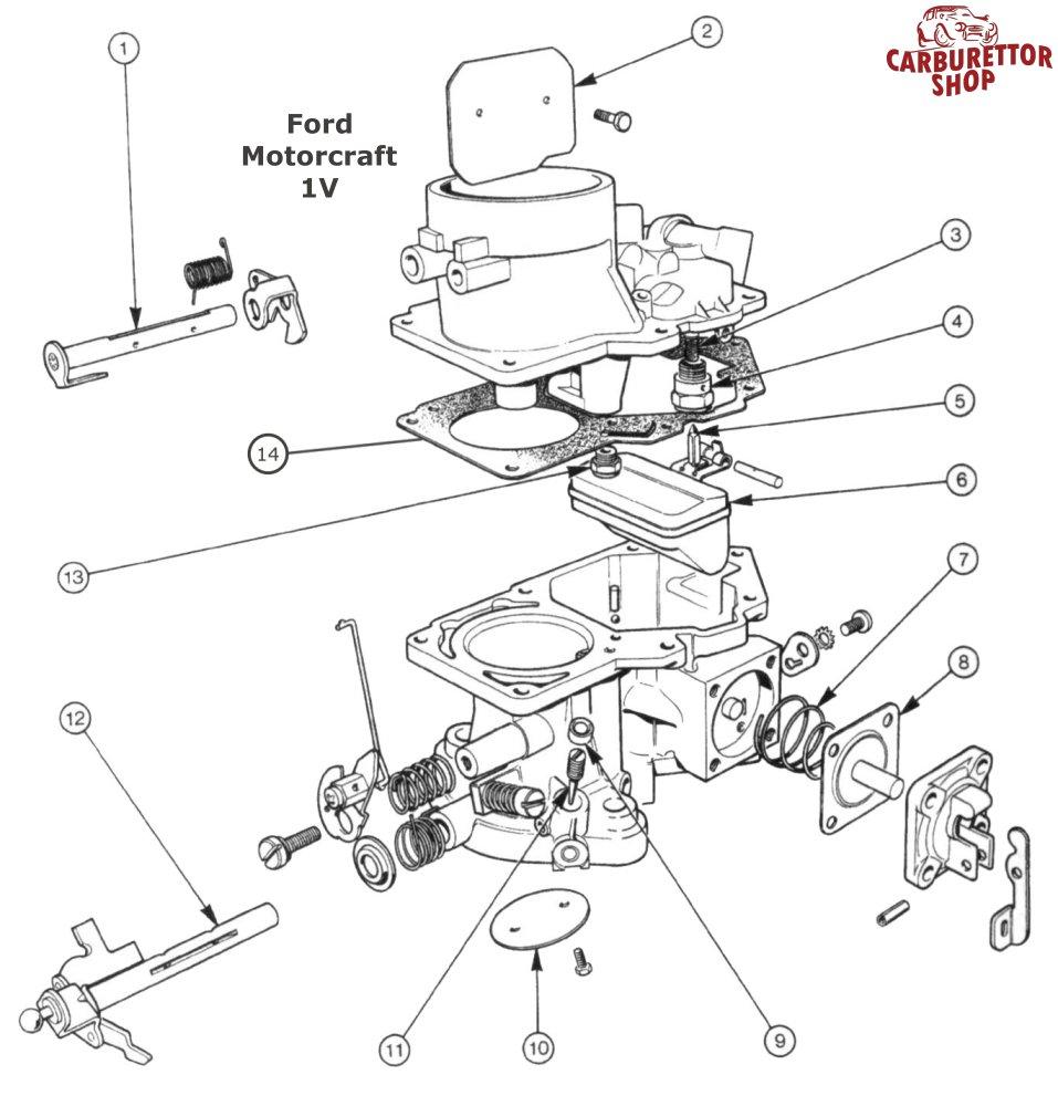 14  Top Cover Gasket For Motorcraft 1v Carburetors