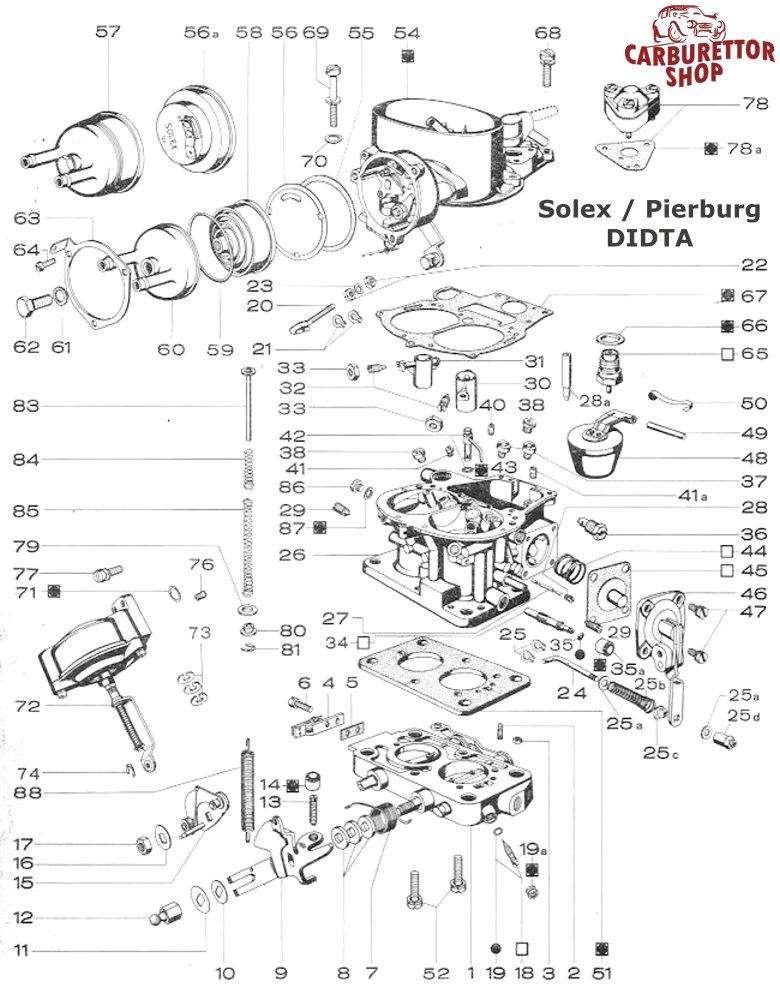 solex mikuni didta carburetor parts rh dellortoshop com