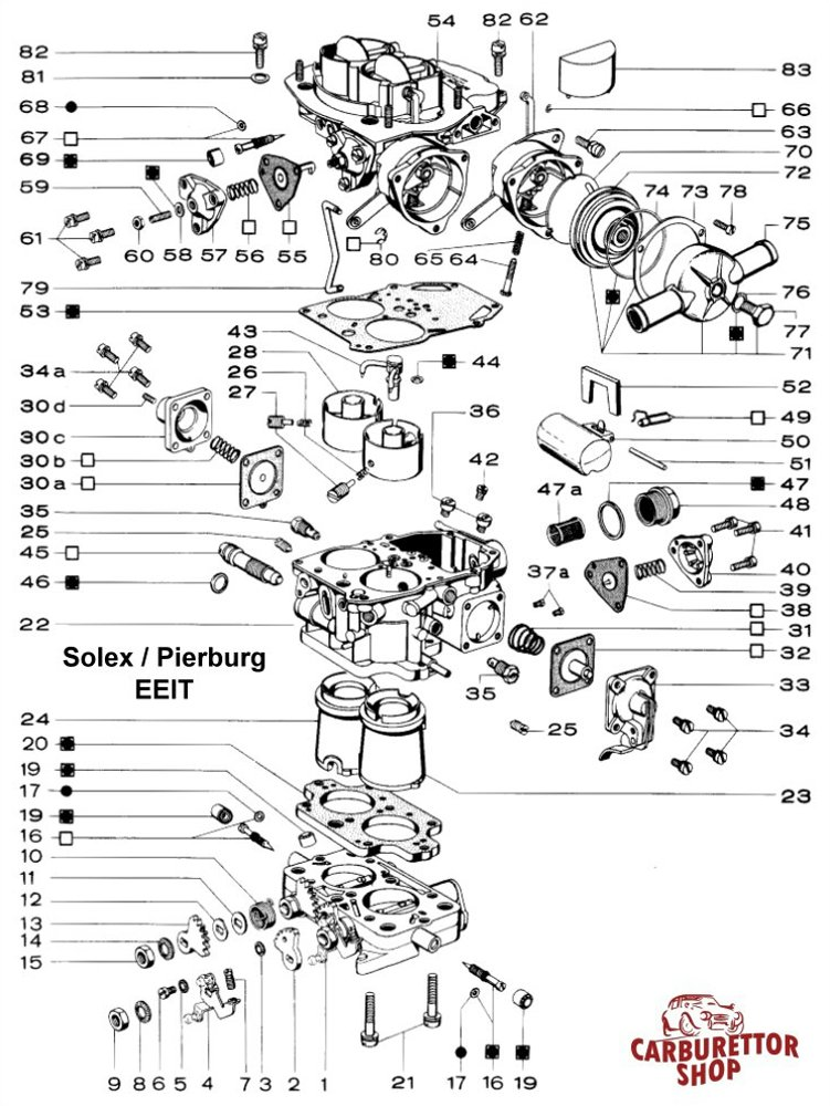 Deluxe Progressive Kit K together with Jetdiagram together with P Tan Eng moreover Dfev also Solex Pierburg Pdsi Carburettor Exploded View Drawing Diagram. on weber carburetor parts diagram