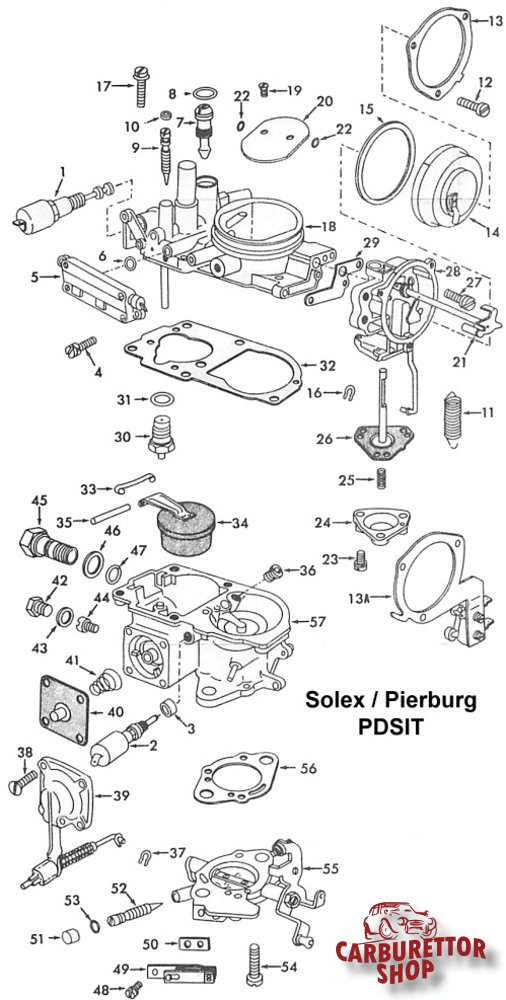 solex pdsit carburetor parts rh dellortoshop com