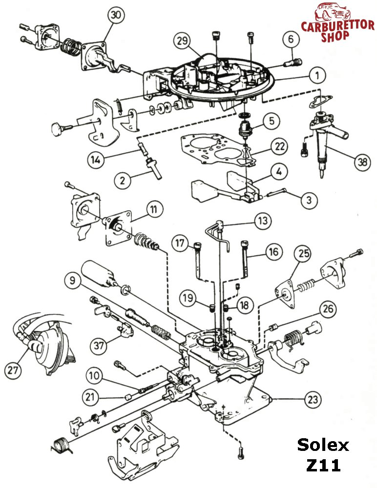 downloads  solex z11 exploded view parts drawing