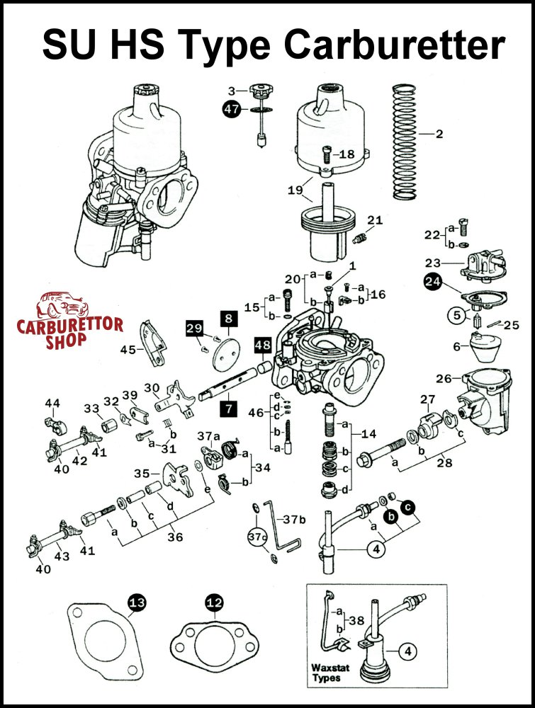Su Hs2 Carburetter Parts