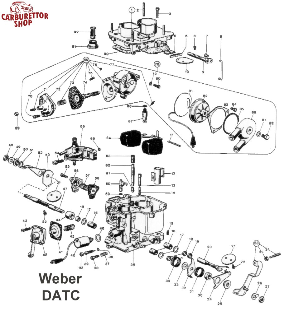 74  Complete Choke Diaphragm For Weber Datc Carburetors